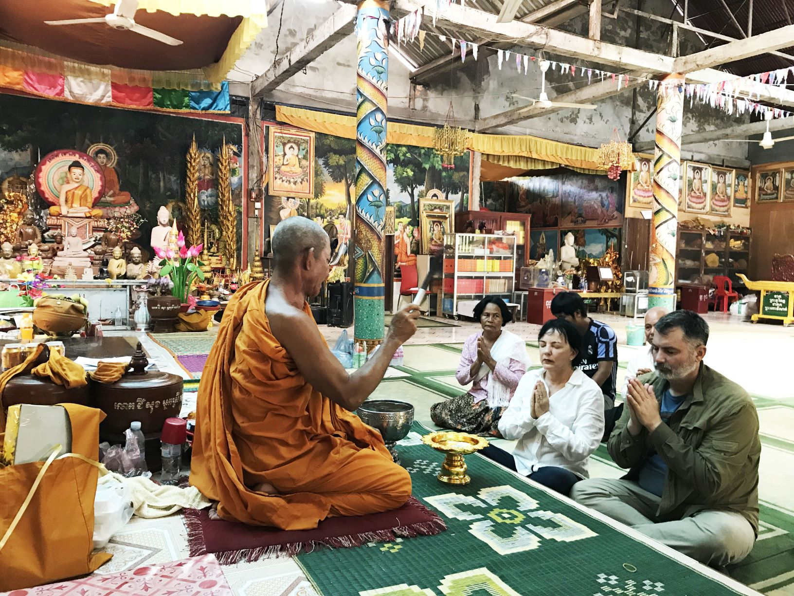 Budhist Monk Blessing Angkor Special Tours